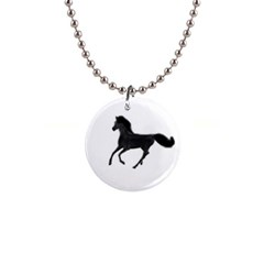 Running Horse Button Necklace