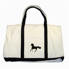 Running Horse Two Toned Tote Bag
