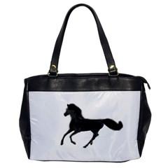 Running Horse Oversize Office Handbag (One Side)