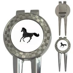 Running Horse Golf Pitchfork & Ball Marker