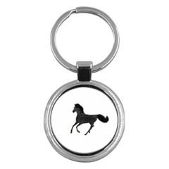 Running Horse Key Chain (round)