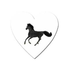 Running Horse Magnet (heart)