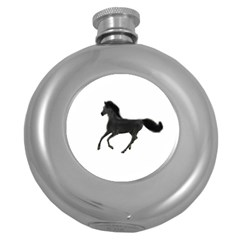 Running Horse Hip Flask (round)
