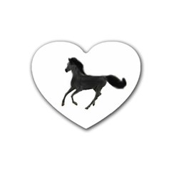 Running Horse Drink Coasters 4 Pack (Heart)