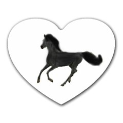 Running Horse Mouse Pad (heart)