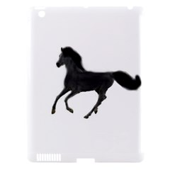 Running Horse Apple iPad 3/4 Hardshell Case (Compatible with Smart Cover)