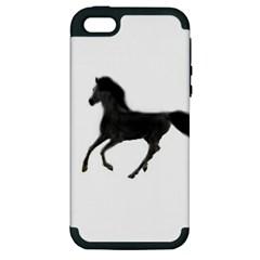 Running Horse Apple Iphone 5 Hardshell Case (pc+silicone)
