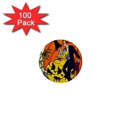Hallowe en Greetings  1  Mini Button (100 pack)