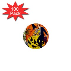 Hallowe en Greetings  1  Mini Button Magnet (100 pack)
