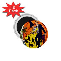 Hallowe en Greetings  1.75  Button Magnet (10 pack)