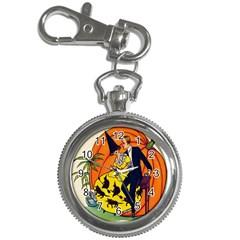 Hallowe en Greetings  Key Chain & Watch