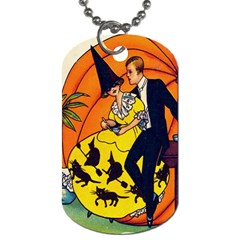 Hallowe en Greetings  Dog Tag (One Sided)