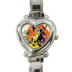 Hallowe en Greetings  Heart Italian Charm Watch