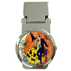Hallowe en Greetings  Money Clip with Watch