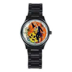 Hallowe en Greetings  Sport Metal Watch (Black)