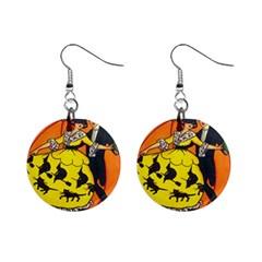Hallowe en Greetings  Mini Button Earrings