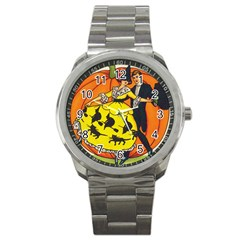 Hallowe en Greetings  Sport Metal Watch