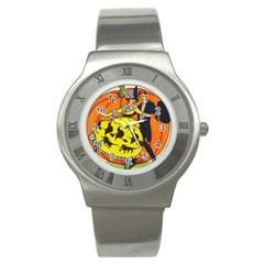 Hallowe en Greetings  Stainless Steel Watch (Unisex)
