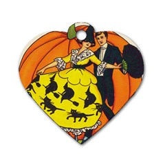 Hallowe en Greetings  Dog Tag Heart (Two Sided)