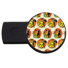 Hallowe en Greetings  1GB USB Flash Drive (Round)
