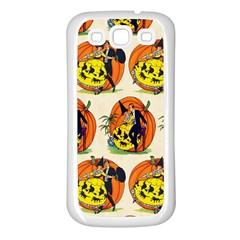 Hallowe en Greetings  Samsung Galaxy S3 Back Case (White)