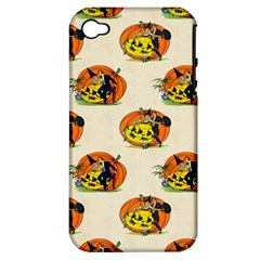 Hallowe en Greetings  Apple iPhone 4/4S Hardshell Case (PC+Silicone)