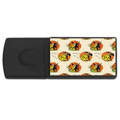 Hallowe en Greetings  4GB USB Flash Drive (Rectangle)