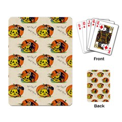 Hallowe en Greetings  Playing Cards Single Design