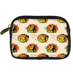 Hallowe en Greetings  Digital Camera Leather Case