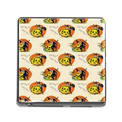 Hallowe en Greetings  Memory Card Reader with Storage (Square)