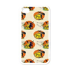 Hallowe en Greetings  Apple iPhone 4 Case (White)