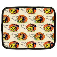 Hallowe en Greetings  Netbook Case (Large)