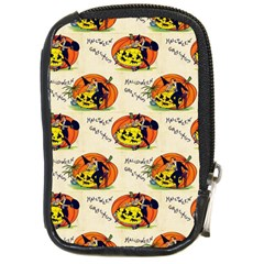 Hallowe en Greetings  Compact Camera Leather Case