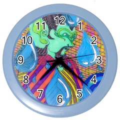 Rain Wall Clock (color)