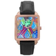 Rain Rose Gold Leather Watch