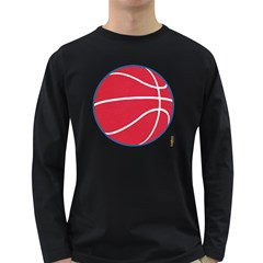 Los Angeles Clippers Basketball Mens' Long Sleeve T-shirt (Dark Colored)