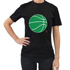 Boston Celtics basketball  T-shirt,  Womens' T-shirt (Black)