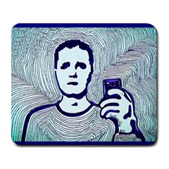 Snapshot blue Large Mouse Pad (Rectangle)
