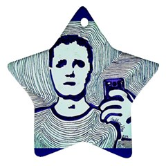 Snapshot Blue Star Ornament (two Sides)