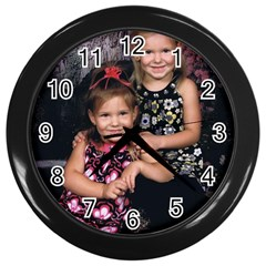 Candence And Abbey   Copy Wall Clock (black)