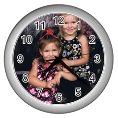 Candence And Abbey   Copy Wall Clock (silver)