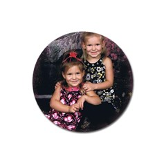 Candence And Abbey   Copy Magnet 3  (round)