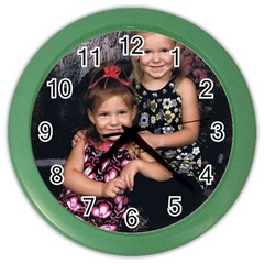 Candence And Abbey   Copy Wall Clock (color)