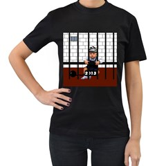 Baby in the jail Womens' T-shirt (Black)