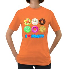 I Heart Donuts Womens' T-shirt (Colored)