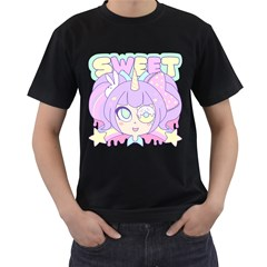 SWEET Mens' Two Sided T-shirt (Black)