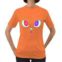 Cat Eyes Womens' T-shirt (Colored)