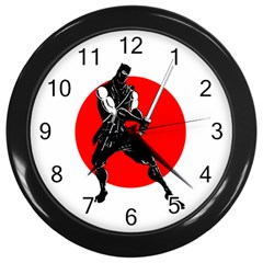 Ninja Wall Clock (black)