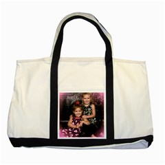 Candence And Abbey   Copy Two Toned Tote Bag