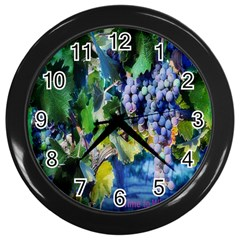 TIME2WINE Wall Clock (Black)